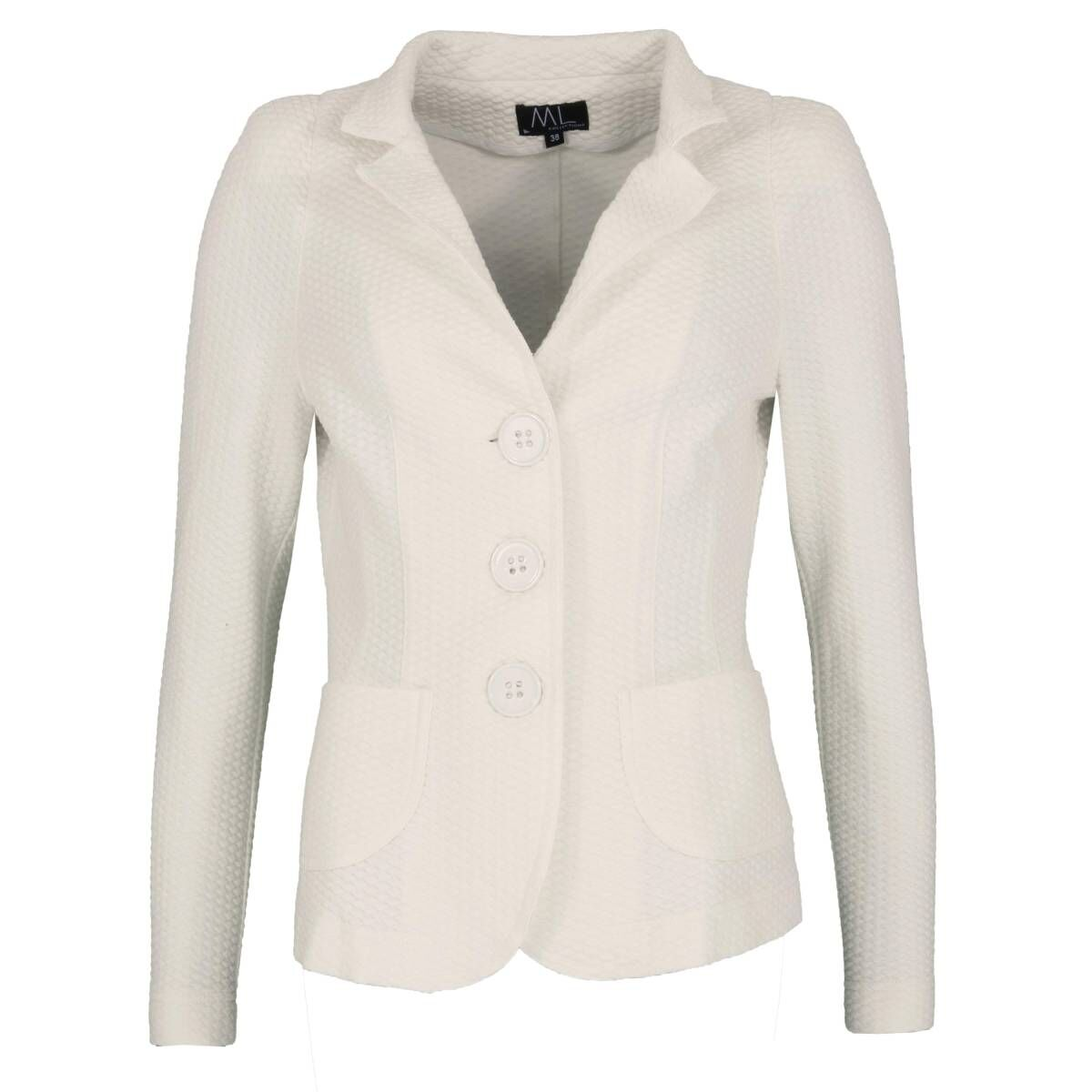 ML Collections blazers 20408 roomwit bij Penninkhofmode.nl