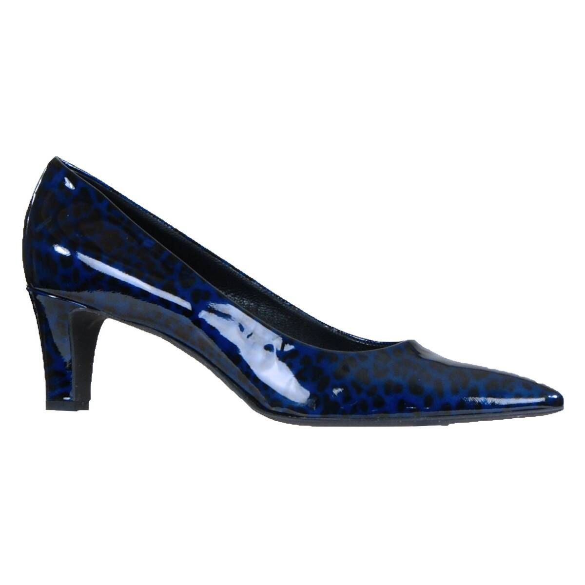 BLAUWE PANTERPRINT HIGH HEELS